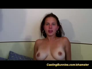Cute babes first anal casting