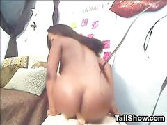 amateur, ebony, masturbation, webcam, black, dildo, riding, toy