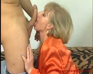 Milf deepthroat & ride dick till cumshot to swallow 1 of 2
