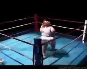 Huge boob bbw wrestles a midget girl then fucks her midget dwarf cumshots s