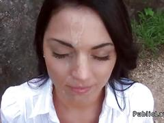 Hungarian beautiful amateur fucking pov in public