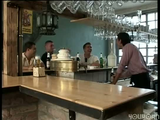 bar, cock, drinks, orgy, sex, soldiers, suck