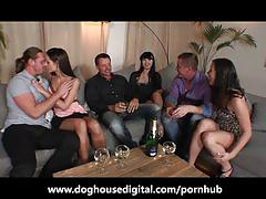 Big anal orgy with gorgeous babes