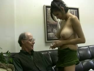 Big boobs girl scout takes old fucks cum!