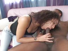 brunette, hardcore, interracial, latina, black hair, black on white, cowgirl, doggy style, latin, spoon