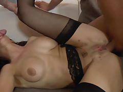 martina gold, brunette, blowjob, riding, doggystyle, cumshot, lingerie, facial, anal, double penetration, reverse cowgirl, stockings, threesome, cowgirl, ass fuck, suspenders, mmf, dp, sucking