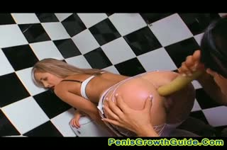 Two hot lesbians play their long dildo