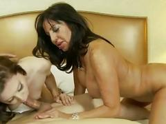 Real mother and daughter blowjob and cumshot