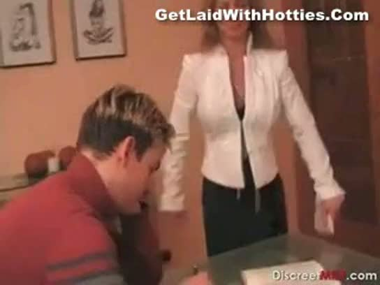 Milf enjoys her date blowjob and rides it
