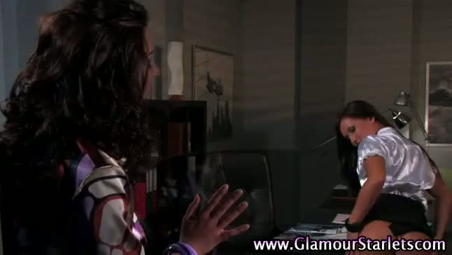 Euro glamorous fetish babe gets herself off