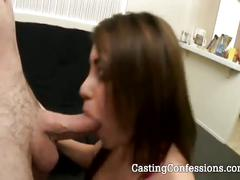 Busty brunette witney stevens blows for casting