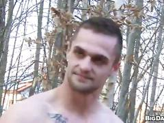Ultimate outdoor anal whacking with amateur muscled fuckers
