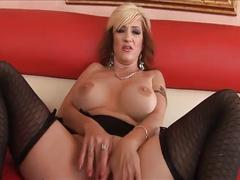 Busty milf likes big black cocks