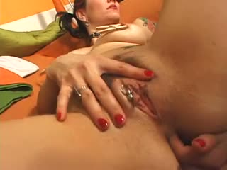 Slut with pussy piercing nailed