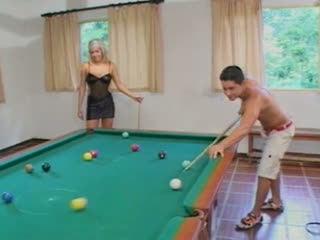 Bi the pool table
