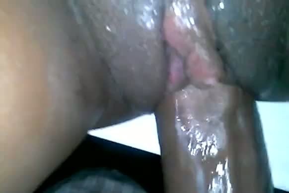 Creamy black pussy