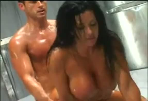 Holly body latex and oil wrestling and fuck hardcore sex video