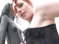 Curvy redhead babe got big ass for doggy style sex