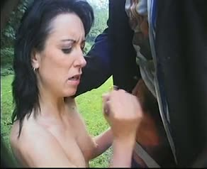 Big milf fucked in the park of a castle (part 2 of 2)
