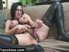 Kinky french bondage and anal