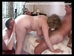 Big tit 3some