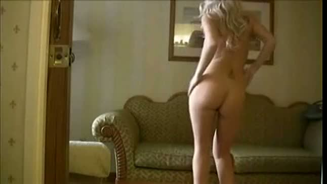 Sexy blonde hot and naked