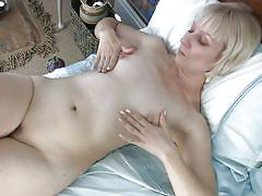 Milky white mature solo and horny