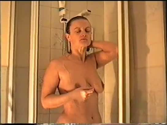 Lucy in the shower