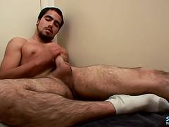 Straight, naked, latin, thug cum - spanky
