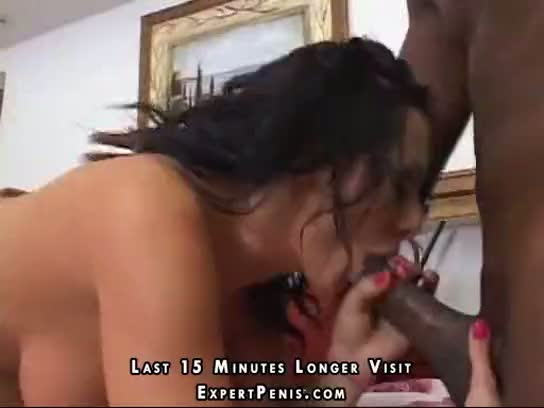 After bj the black guy nails her hole
