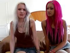 Hot emo lesbians black&white♥