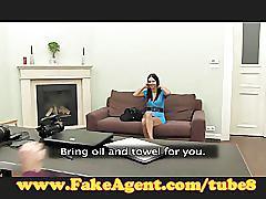 Fakeagent cock massage