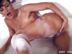 Busty milf bubble bath