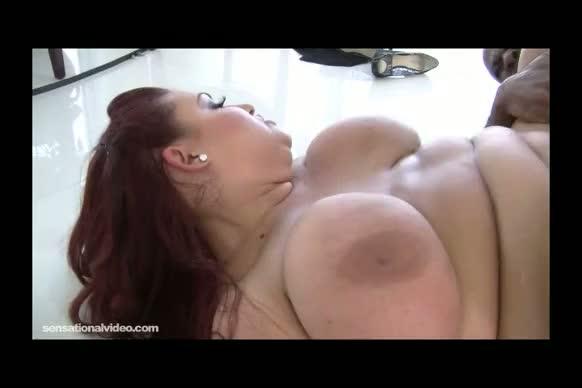 Sexy busty bbw realtor fucks big black client