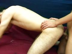 Fresh spunk from luscious ass stretching cute young twinks
