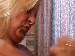 Blonde mature threesome