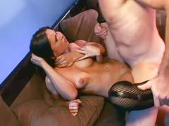 Brunette bitch loves anal threesomes with dp