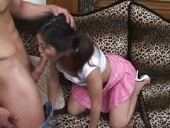 Kinky asian babe puts her pussy to work