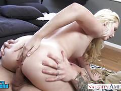 Slim small titted samantha rone gets shaved pussy fucked