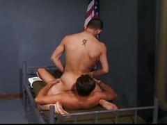 Muscled military studs enjoying hardcore deep ass whacking session