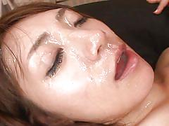 She enjoys having semen on her face