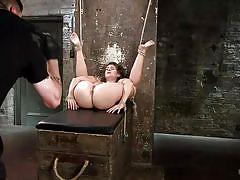 blonde, bdsm, tied up, fingering pussy, ropes, hogtied, kink, cassidy klein, the pope