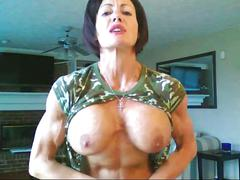 tits, boobs, sexy, amateur, female, bodybuilder, muscle