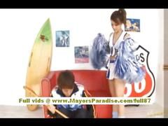 Risa tsukino stunning asian cheerleader gets pussy...
