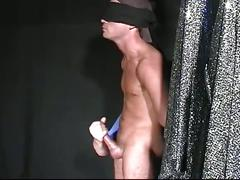 Super hot frat initiation as cute slave blindfolded and abused