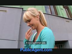 Publicagent beautiful blonde fucks me in my car