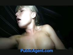 blonde, car, cute, pov, public, reality, sex