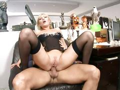 Naughty secretary donna bell bangs the boss
