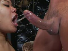 Busty asian annie in rough face fuck