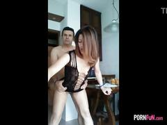 The girlfriend wanted to fuck in the kitchen